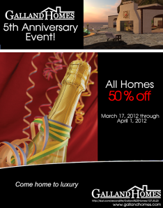 Galland Homes 5th Anniversary Event