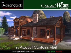 Second Life Log Homes, Prefabs, Cabins